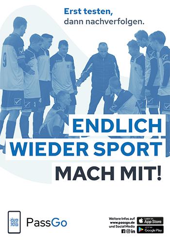 PassGo Poster Endlich wieder Sport