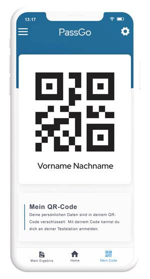 Anzeige QR Code, PassGo